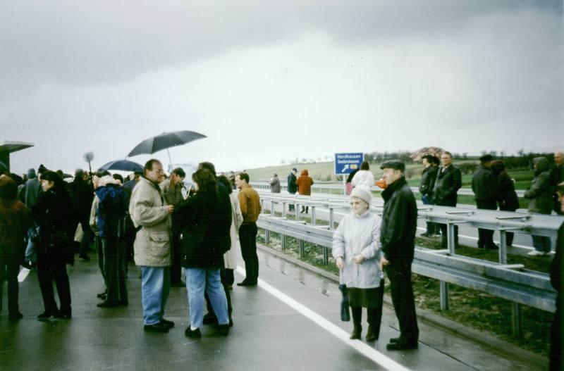Freigabe der Autobahn bei Sundhausen