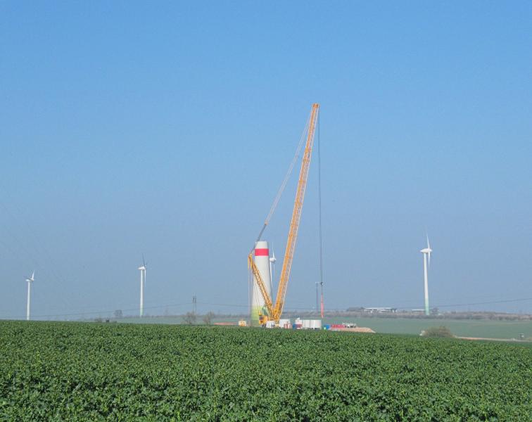 Windräder auf der Windleite