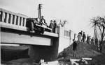 Unfall am Ortseingang etwa 1939