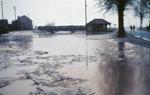 Flutgraben bei Hochwasser